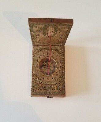 REVOLUTIONARY  War era Super Rare Folding Traveling Compass