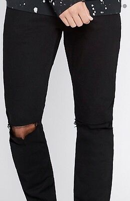 NWT! Authentic. PacSun Skinny Comfort Stretch Black Jeans Size 32 x 34 1052 G