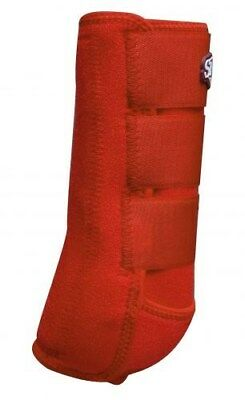 Showman LARGE RED Pair of Elite Equine Sport Medicine Boots! NEW HORSE TACK!!