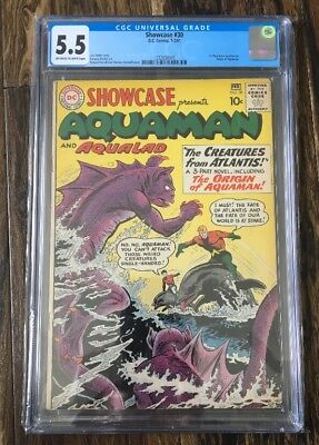 Showcase Comics #30 - CGC 5.5 FN- DC 1961 - 1st Aquaman (ORIGIN)