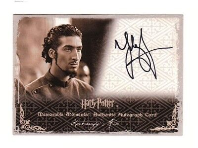 Harry Potter Autograph Card Karkaroff's Aide Tolga Safer MM