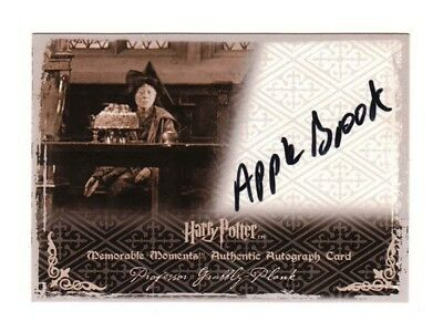 Harry Potter Autograph Card Professor Grubbly-Plank Apple Brook MM