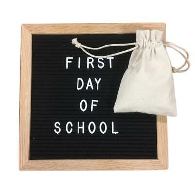 """Felt Letter Board 10x10 Inches. Changeable Letter Boards Include bag, 680 (¾"""") W"""