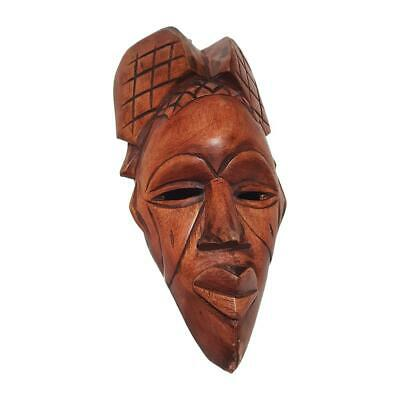 """18"""" African Wood Mask: Brown"""