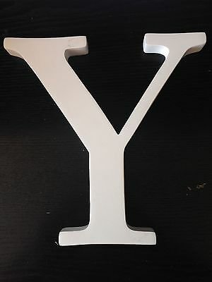 "Pottery Barn Kids 8"" Capital Letter, Simply White "" Y """
