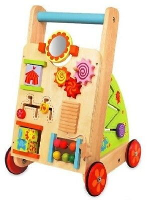 Brand New I'm Toy Wooden Baby First Walker Activity Push Along Toddler Toy