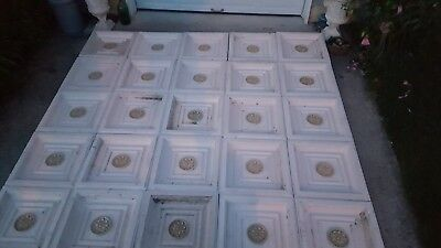 Repro Decorative Ceiling Tile 2'x2' 25 pieces.10 by 10 ceiling.11 lbs each!!!