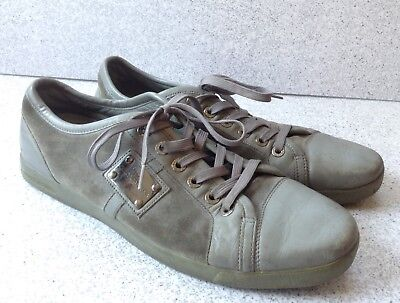 1b109dc2a Dolce And Gabbana Mens Fashion Sneakers Size 11.5 Gray Blue Leather And  Suede