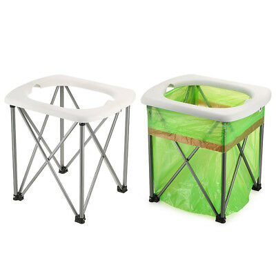 Portable Camping Outdoor Folding Toilet Chair Seat Travel Potty Lightweight