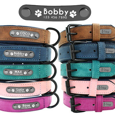 Personalized Dog Collar Leather Free Engraving