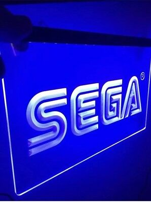 Sega Arcade Video Game Led Neon Light Signs Mancave Game Room Size 13 X8 New