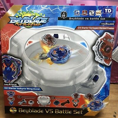 Beyblade Burst Stadium with 2 Beyblades VS Battle Set Arena Kids Gift Light