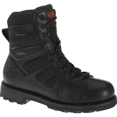 Harley Davidson FXRG-3 Full Grain Zip Sided Waterproof Leather Boots in Black