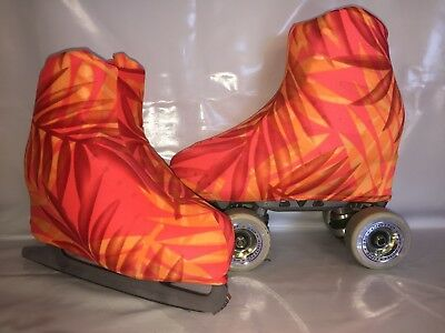 Orange Leaf Boot Covers for Roller Skates/Ice Skates SMALL  ONLY