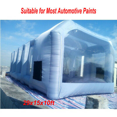 29x15x10ft  Inflatable Tent Car Paint Spray Booth For Most Automotive Paints