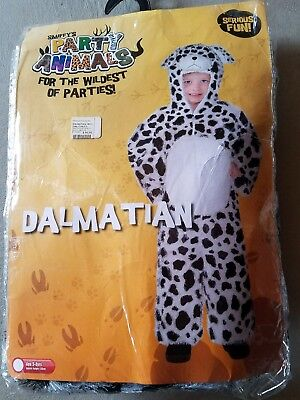 O NEW Child Smiffys Party Animals Dalmatian Halloween Costume Size S