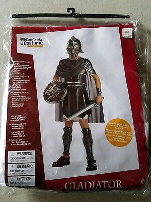 O NEW Child California Costume Gladiator  Halloween Costume Size L