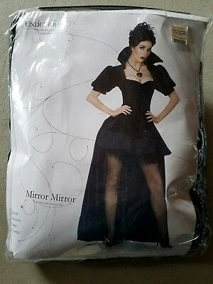 C NEW Adult Underwraps Mirror Mirror Mini Dress Halloween Costume Size S