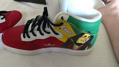 New Arrival Limited Edition 100% Premium Leather Suede,Bob Marley, Rasta Sneaker