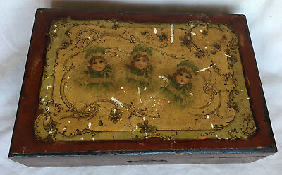 Old Wooden Jewellry Box Lacquered Images