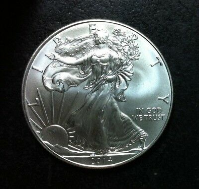 2014 American Silver Dollar Eagle ~ Gem Bu Contains 1 Troy Oz .999 Fine Silver