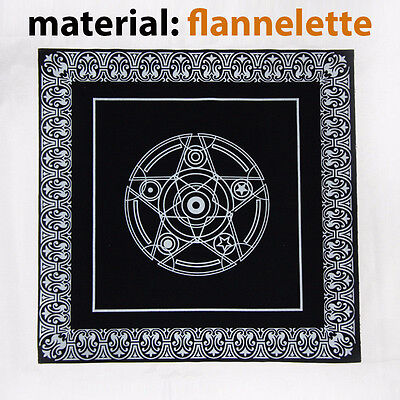 49X49 flannelette Tablecloth pentacle for Tarot game Rider Deck Board Card Waite
