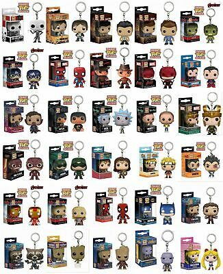Keychain Funko Pocket Pop Vinyl Iron Man DC Figure Keyring Collection Model Gift