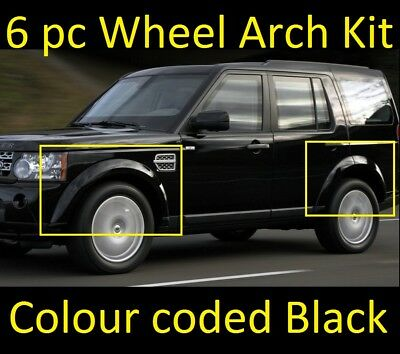 6pc Gloss Black wheel arch kit Land Rover Discovery 3