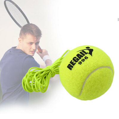 1Pc Tennis Ball With String Trainer Replacement Rubber Woolen Training