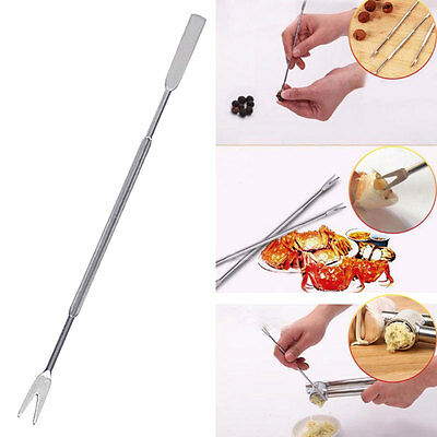 Stainless Steel Seafood Crab Lobster Fork Set 4Pc Pickle Olive Cherry Jar s