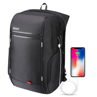15.6'' Business Computer Backpack Anti-Theft Laptop Bag Water Resistant USB Port