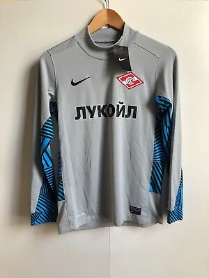 Nike FC Spartak Moscow Football Kids LS Training Shirt - 12-13 Years - Grey -New