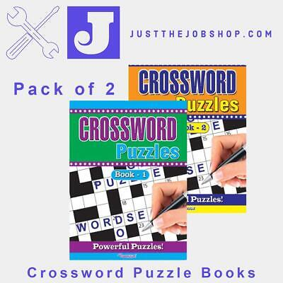 2 x  Crossword Puzzle Time Great for Travel Book 1 & 2 UK Stock 284 Crosswords!!