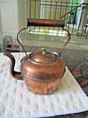 Small Miniature Victorian Antique  Apprentice Copper Kettle circa 1860-1880