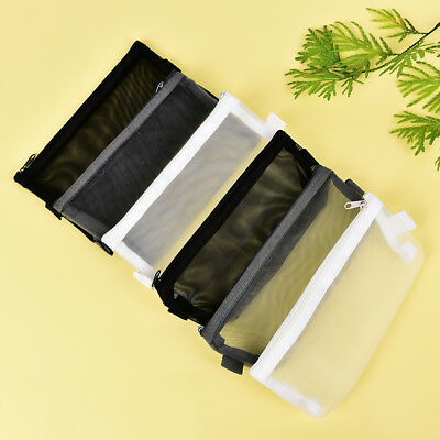 Clear Exam Pencil Case S/L Transparent Simple Mesh Zipper Stationery Bag Scho CH