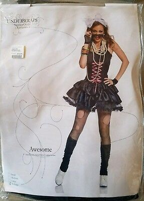 J NEW Adult Underwraps Awesome 80s Halloween Costume Size XL