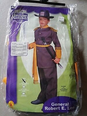 O NEW Child Rubies General Robert E Lee Halloween Costume Size S