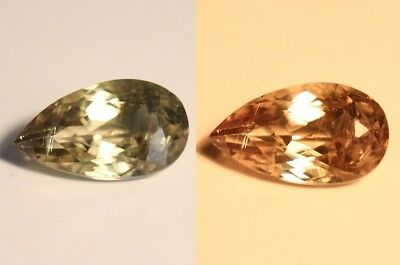 3.62ct Colour Change Diaspore From Turkey - Excellent Clarity Pear