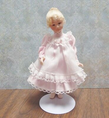 Lovely 1:12 Scale Miniature Pinafore Doll