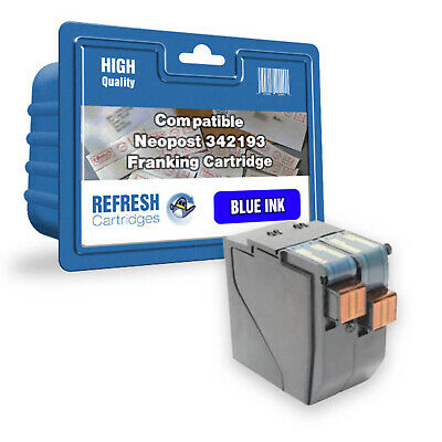 Refresh Cartridges Blue 342193 Compatible With Neopost Printers
