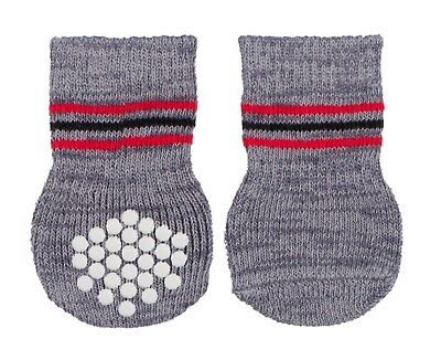 1 Pair of Dog Socks with Rubber Grips Non Slip Dog Socks for Small/Med Dogs S-M