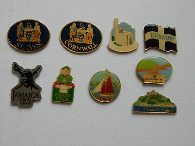 One Selected Metal Souvenir Fridge Magnet from Cornwall