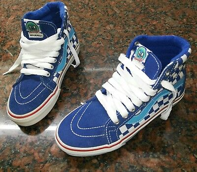930b960651 New Vans Sk8-Hi HARO freestyler blue white checkerboard mens 4 womens 5.5