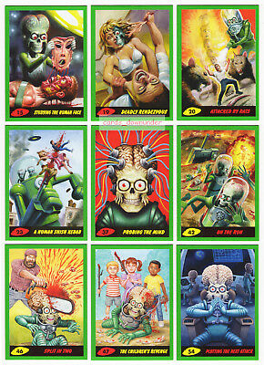 2017 TOPPS MARS ATTACKS REVENGE 110 Card Green Parallel Set 55 Base + 55 Pencil