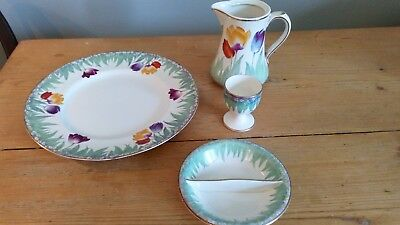 Vintage Booths Old Ivory Tulip Lot of 4 Pieces