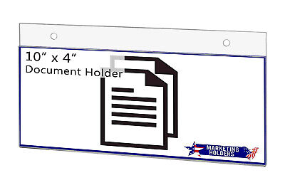 """Sign Holder Ad Frame 10""""W x 4""""H Wall Mount with Mounting Holes"""