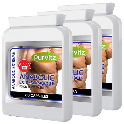 180 Anabolic Weight Gainer Capsules Pills Increases Muscle Mass Growth Strength