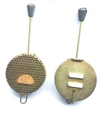"Set of 2 Metal Bait Droppers.  Size 2"" diameter"
