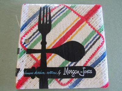 NOS Vtg 1950s Morgan Jones Kitchen Cottons 3 Dish Cloths Dish Rag 1 Pot Holder