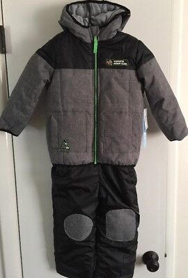 NWT~~WIPPETTE KIDS Toddler Boy's Two-Piece Black/Gray Snowsuit~~Size 4T